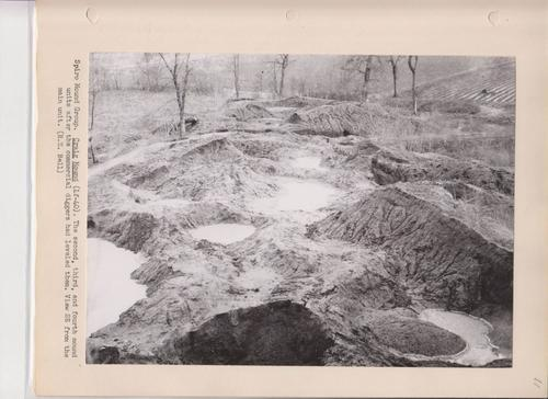 Destroyed mounds at Spiro site