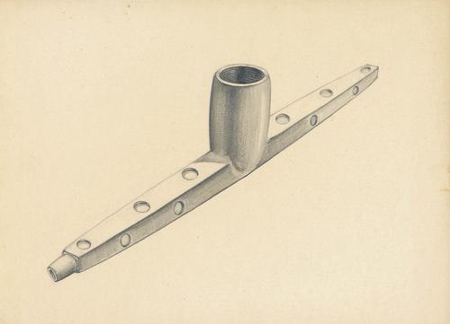 WPA Drawing of T-shaped pipe